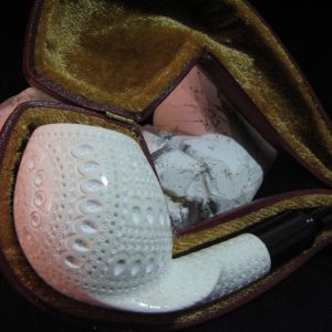Lattice Meerschaum Pipes